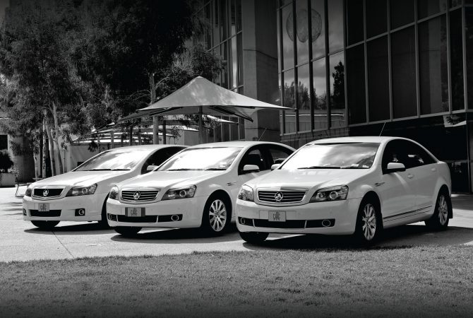 Canberra Hire Cars fleet at the National Gallery of Australia