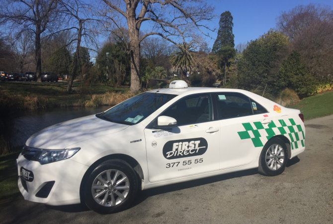 First Direct Taxi at Christchurch Botanic Gardens