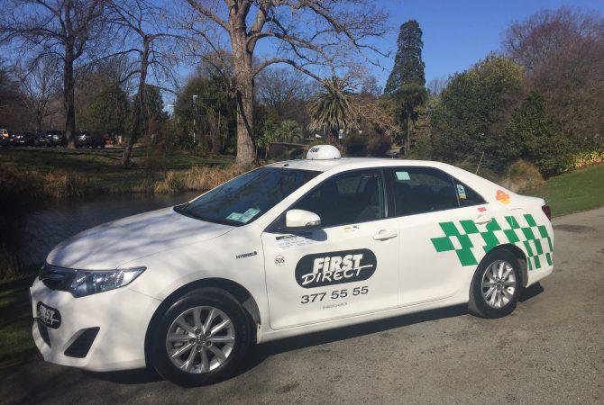 First Direct Taxi at Christchurch Botanic Gardens