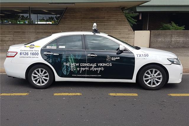 taxi advertising Canberra Elite