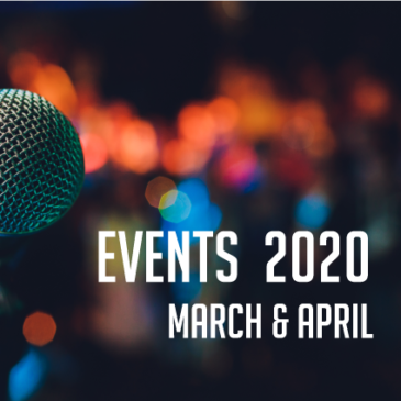 Canberra Events – March & April 2020