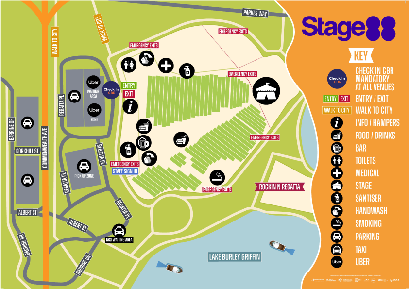 Stage 88 Site Map Australia Day Concert 2021